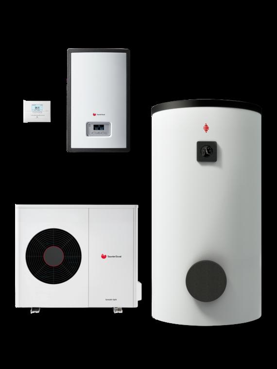 Genia Air Split, Módulo hidraúlico, Depósito acumulador ACS y Sistema de control MiPro